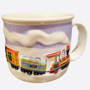 Hallmark 3D Embossed Christmas Train Cup/Mug